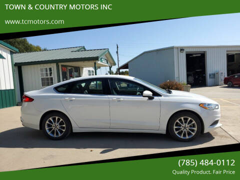 2017 Ford Fusion for sale at TOWN & COUNTRY MOTORS INC in Meriden KS