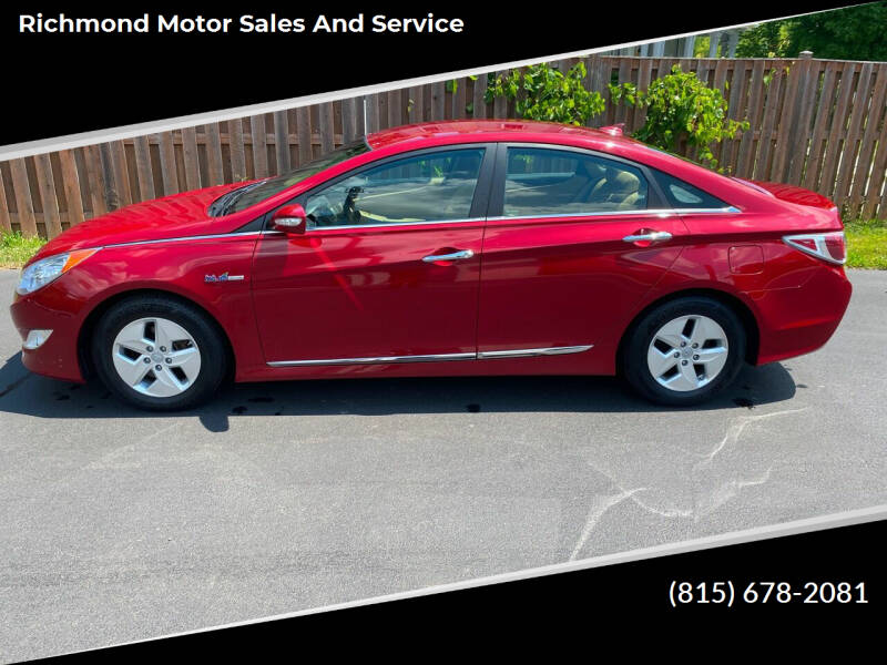2012 Hyundai Sonata Hybrid for sale at Richmond Motor Sales and Service in Richmond IL