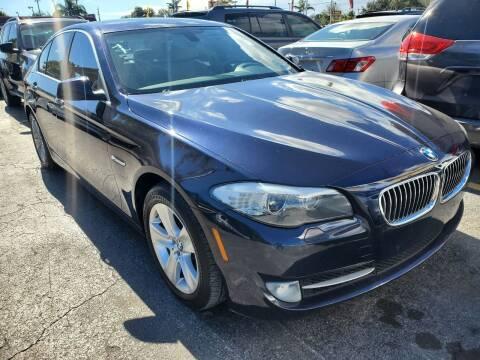 2013 BMW 5 Series for sale at America Auto Wholesale Inc in Miami FL