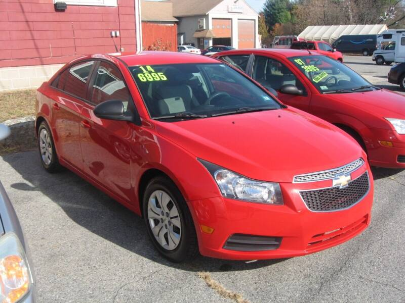 2014 Chevrolet Cruze for sale at Joks Auto Sales & SVC INC in Hudson NH