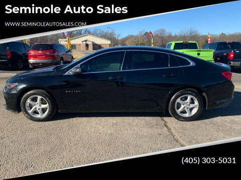 2017 Chevrolet Malibu for sale at Seminole Auto Sales in Seminole OK