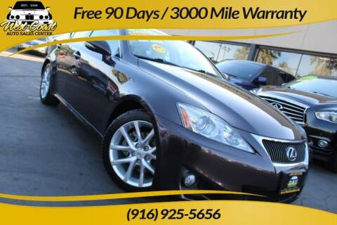 2012 Lexus IS 250 for sale at West Coast Auto Sales Center in Sacramento CA