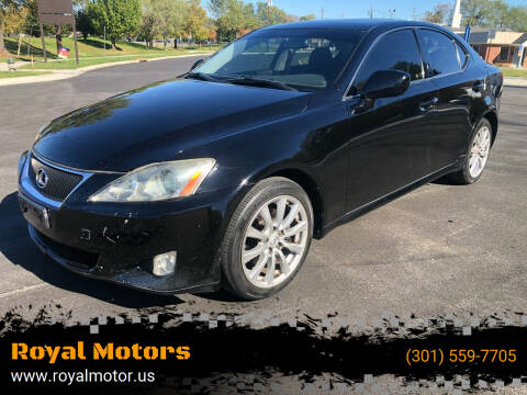 2007 Lexus IS 250 for sale at Royal Motors in Hyattsville MD