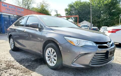 2016 Toyota Camry Hybrid for sale at 540 AUTO SALES in Chicago IL
