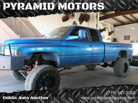 2001 Dodge Ram Pickup 2500 for sale at PYRAMID MOTORS - Pueblo Lot in Pueblo CO
