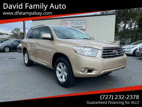 2010 Toyota Highlander for sale at David Family Auto in New Port Richey FL