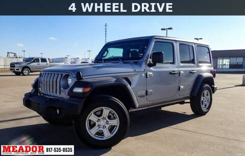 2020 Jeep Wrangler Unlimited for sale at Meador Dodge Chrysler Jeep RAM in Fort Worth TX