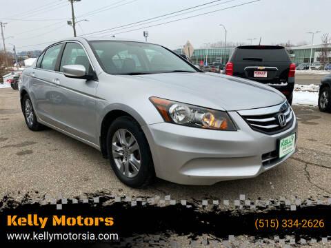 2012 Honda Accord for sale at Kelly Motors in Johnston IA
