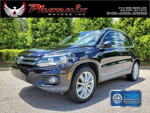2012 Volkswagen Tiguan for sale at Phoenix Motors Inc in Raleigh NC