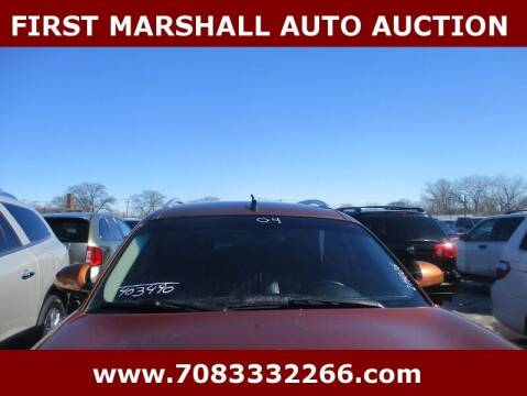 2004 Infiniti FX45 for sale at First Marshall Auto Auction in Harvey IL