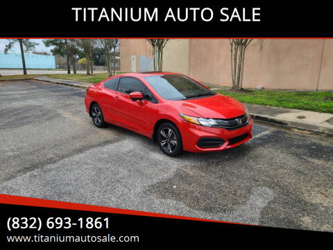 2014 Honda Civic for sale at TITANIUM AUTO SALE in Houston TX