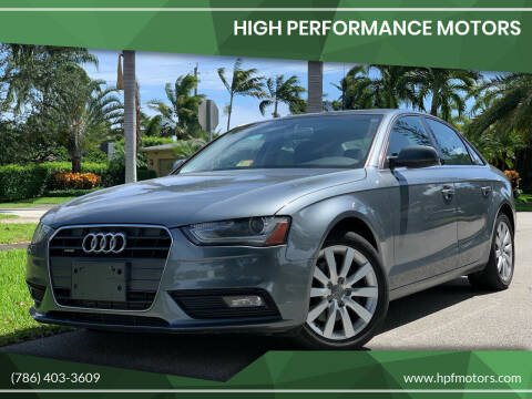 2013 Audi A5 for sale at HIGH PERFORMANCE MOTORS in Hollywood FL
