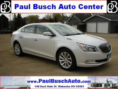 2015 Buick LaCrosse for sale at Paul Busch Auto Center Inc in Wabasha MN