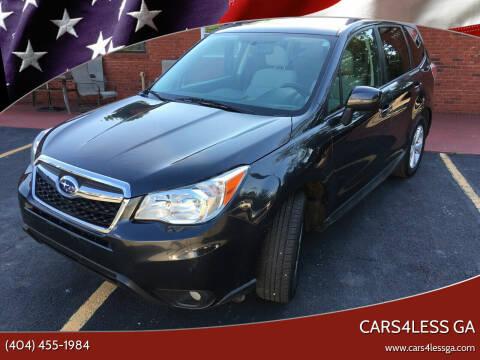2015 Subaru Forester for sale at Cars4Less GA in Alpharetta GA