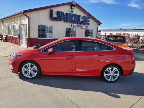 "2017 Chevrolet Cruze for sale at UNIQUE AUTOMOTIVE ""BE UNIQUE"" in Garden City KS"