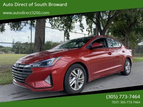 2019 Hyundai Elantra for sale at Auto Direct of South Broward in Miramar FL