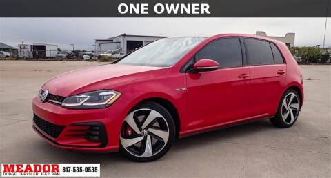 2020 Volkswagen Golf GTI for sale at Meador Dodge Chrysler Jeep RAM in Fort Worth TX