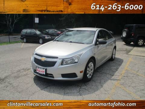 2012 Chevrolet Cruze for sale at Clintonville Car Sales - AutoMart of Ohio in Columbus OH