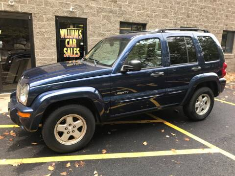 2004 Jeep Liberty for sale at William's Car Sales aka Fat Willy's in Atkinson NH