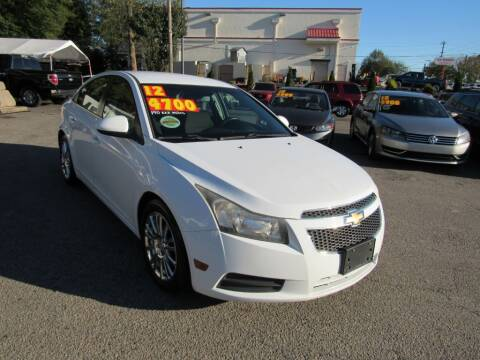 2012 Chevrolet Cruze for sale at Auto Bella Inc. in Clayton NC