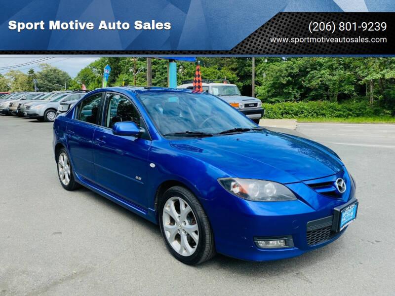 2007 Mazda MAZDA3 for sale at Sport Motive Auto Sales in Seattle WA