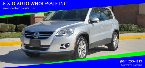 2009 Volkswagen Tiguan for sale at K & O AUTO WHOLESALE INC in Jacksonville FL