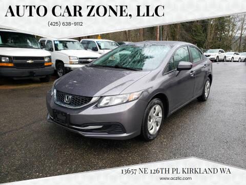 2015 Honda Civic for sale at Auto Car Zone, LLC in Kirkland WA