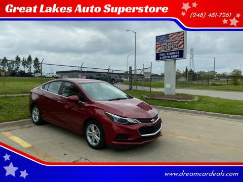 2018 Chevrolet Cruze for sale at Great Lakes Auto Superstore in Pontiac MI