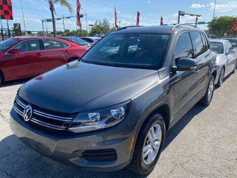 2016 Volkswagen Tiguan for sale at America Auto Wholesale Inc in Miami FL