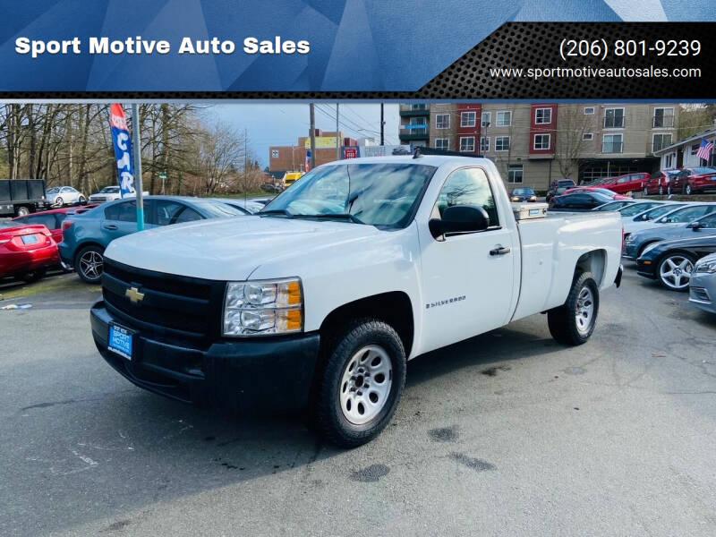 2008 Chevrolet Silverado 1500 for sale at Sport Motive Auto Sales in Seattle WA