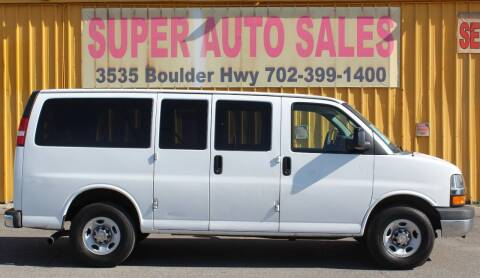 2015 Chevrolet Express Passenger for sale at Super Auto Sales in Las Vegas NV