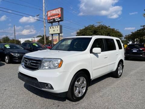 2015 Honda Pilot for sale at Autohaus of Greensboro in Greensboro NC