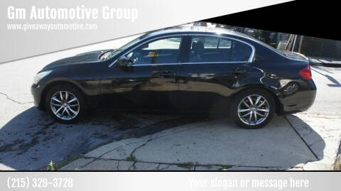2007 Infiniti G35 for sale at GM Automotive Group in Philadelphia PA
