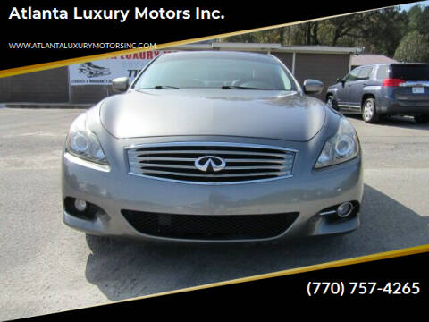 2013 Infiniti G37 Coupe for sale at Atlanta Luxury Motors Inc. in Buford GA