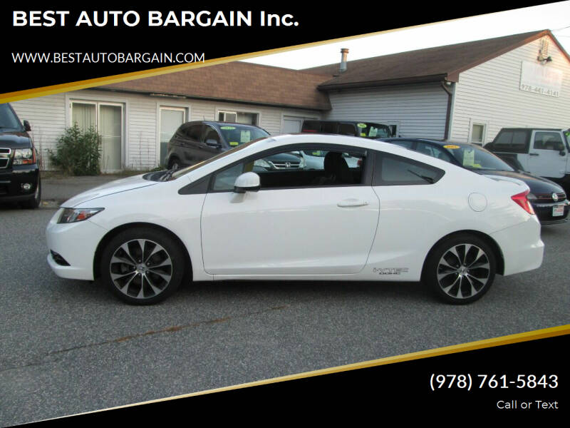 2013 Honda Civic for sale at BEST AUTO BARGAIN inc. in Lowell MA