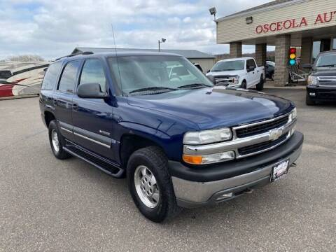 2003 Chevrolet Tahoe for sale at Osceola Auto Sales and Service in Osceola WI