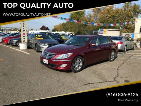 2012 Hyundai Genesis for sale at TOP QUALITY AUTO in Rancho Cordova CA