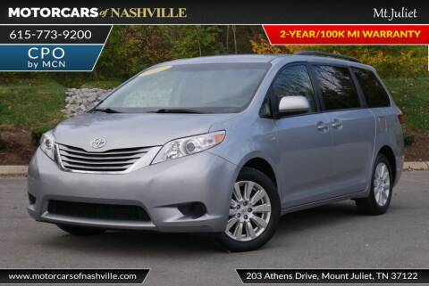 2017 Toyota Sienna for sale at MotorCars of Nashville in Mount Juliet TN