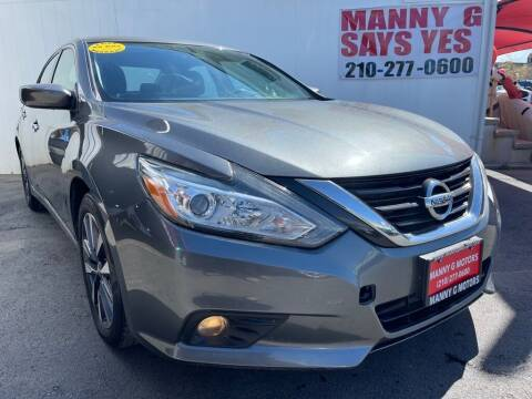 2017 Nissan Altima for sale at Manny G Motors in San Antonio TX