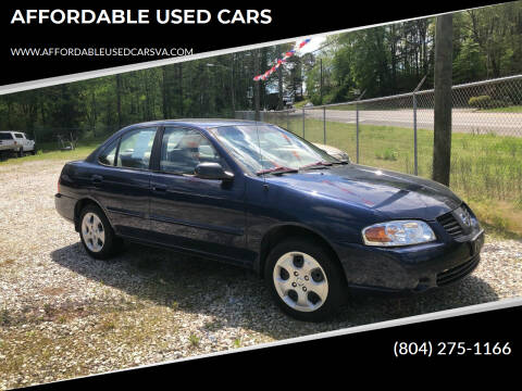 2005 Nissan Sentra for sale at AFFORDABLE USED CARS in Richmond VA
