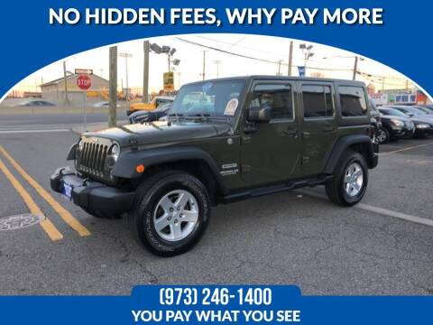 2015 Jeep Wrangler Unlimited for sale at Route 46 Auto Sales Inc in Lodi NJ