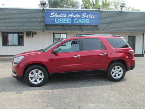 2014 GMC Acadia for sale at SHULTS AUTO SALES INC. in Crystal Lake IL