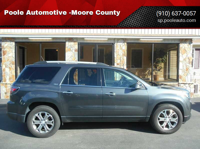 2014 GMC Acadia for sale at Poole Automotive in Laurinburg NC
