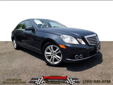 2010 Mercedes-Benz E-Class for sale at PRIME MOTORS LLC in Arlington VA