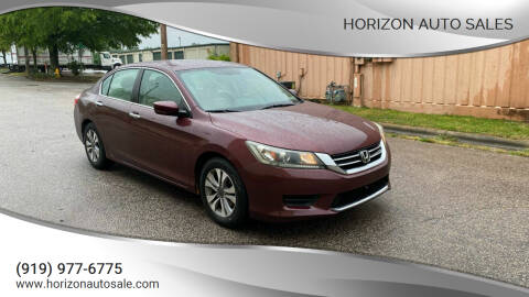 2013 Honda Accord for sale at Horizon Auto Sales in Raleigh NC