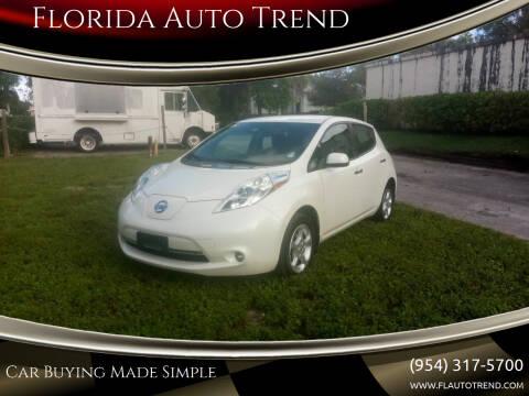 2013 Nissan LEAF for sale at Florida Auto Trend in Plantation FL