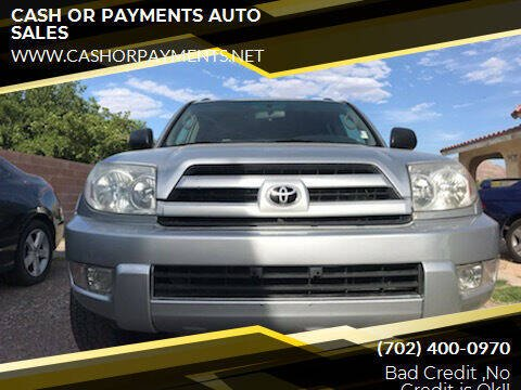 2004 Toyota 4Runner for sale at CASH OR PAYMENTS AUTO SALES in Las Vegas NV