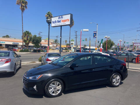 2019 Hyundai Elantra for sale at Pacific West Imports in Los Angeles CA