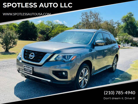 2017 Nissan Pathfinder for sale at SPOTLESS AUTO LLC in San Antonio TX