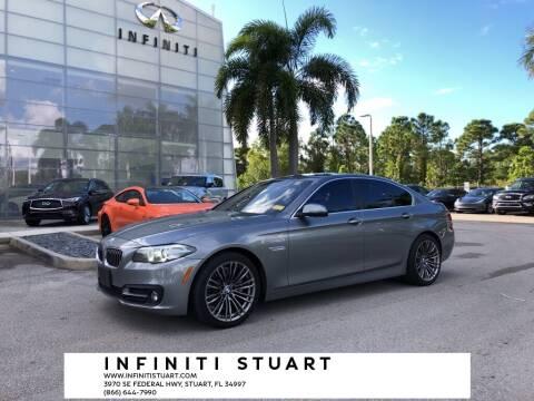2015 BMW 5 Series for sale at Infiniti Stuart in Stuart FL